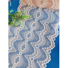 24 cm renda nupcial branca de alta qualidade para vestido