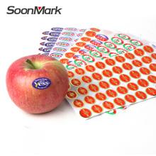 Individuelle Lebensmittelverpackung selbstklebender Aufkleber Fruchtetikett
