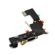Piezas de repuesto para iPhone 5s Negro Cargador Puerto USB Flex Cable