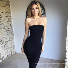 Casual Dresses Off Shoulder Women Sexy Club Long Tube Top Dress Tube Top Backless Dress