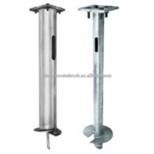 Steel Street Lighting Pole Helix Foundation