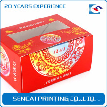 Sencai cheap simple Festive rice cake box with stamping logo and Paper-cuts for Window Decoration