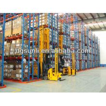 Prateleira do armazenamento armazém ajustável corredor muito estreito