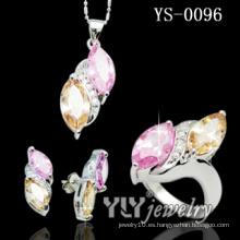 Los últimos conjuntos de joyas de piedra de circonio de diseño (YS-0096)