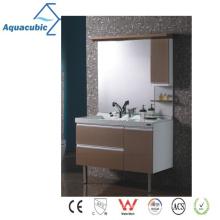 Classic Wood Mirrored Bathroom Cabinet (AME097)