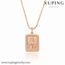32286-Xuping colgante en forma de rectángulo de los encantos al por mayor con el oro 18K plateado