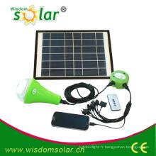 Au loin-grille Mini solaire éclairage système pour ménage, éclairage de maison solaire