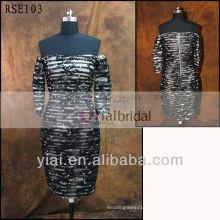 RSE103 Short Black Lace Off Shoulder Cocktail Dress
