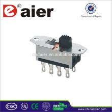 Mini interruptor deslizante SS23H25 hecho en China interruptor deslizante a prueba de agua
