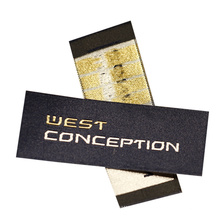 Hot Selling Factory Price 100% Polyester Satin Woven Label High Density Woven Brand Label