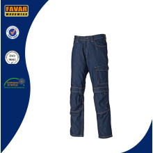 Mens Washable Workwear Cotton Cargo Jeans
