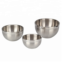 Multipurpose Stainless Steel Double-walled Mixing Bowl Set