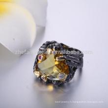 charmante dernière anneaux dorés conceptions de bague grande forme de coeur tonalité anneaux