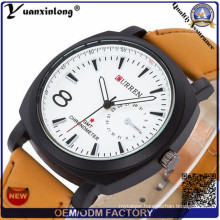 Yxl-689 New Army Military Leather Strap Fashion Currenful Watch for Men