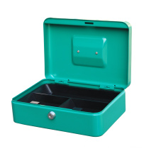 China Factory Steel Material 10 inch Cash Money Box Safe  for Bills and Coins