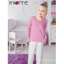 Miorre OEM Kid's Girl Plain Color Comfortable Pajamas Set