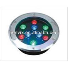 De alta calidad IP65 uso de jardín rgb led luz de pavimentación subterránea