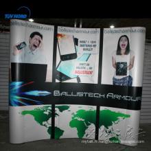 Stand d'exposition en aluminium backdrop design tissu tension pop up