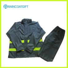 Reflektierende Mens PU Regenmantel 2PCS Rainsuit Rpu-005