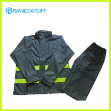 Reflective Men′s PU Raincoat 2PCS Rainsuit Rpu-005