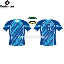 Maillot de rugby blanc 100% bon marché de haute qualité pour votre propre conception ou logo