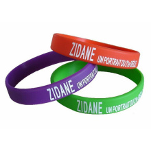Fashion Characteristic Concave and Convex Printed Silicon Bracelet