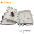 Ftth Ip65 Waterproof 12 Cores1 * 8 Plc Splitter Fiber Optic Plastic Caja de distribución