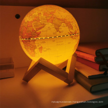 Children's Light Up Globe Lamp Vintage