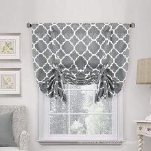 Rod Pocket Panel Style Grey Blackout Curtain