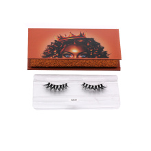 610T Hitomi eyelash packaging box private label Mink Lashes Cruelty Free paper eyelash packaging 3d real mink eyelash