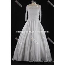 El vestido de boda más nuevo del vestido de boda 2017 de los vestidos de boda elegantes del cordón de la manga larga viste el vestido nupcial
