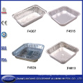 Disposable Aluminum Foil Plates for Restaurant Food Packaging