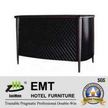 Elegant Black Mesh Facing Design Wooden Decorative Cabinet (EMT-DC06)