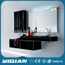 hot sell high gloss fashion design modern wall bathroom vanity unit