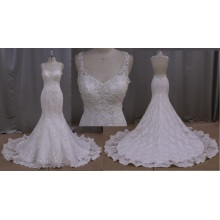Ivory Lace Beach Casual Wedding Dress