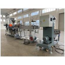 Маточная смесь наполнителя пластиковой пленки / белая маточная смесь для полиэтиленовых пакетов / продуктов из ТПЭ Экструзионный процесс WPC Экструзионное оборудование для горячего расплава