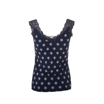 SS2021 Women's knitted sexy AOP lace vest best sell