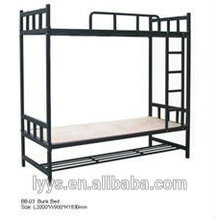cheap adult steel folding bunk bed, school dormitory room student bunk bed