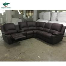 2021 Antique European Style Black and White Sofa L Shape Sofa Set Designs Contemporary Italian Leather Sectional Sofa