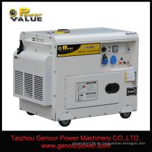 3kVA 5kVA 10kVA 5kw 10kw 100% Kupferdraht / einphasig AC220V50Hz Dieselgenerator / stille Art Dieselmotor Generator