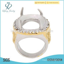 Fancy 316L stainless steel silver&gold eagle four claw indonesia wholesale rings