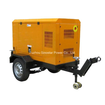 20kw / 25kVA Cummins 4b3.9-G1 gerador diesel conjunto com reboque