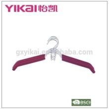 EVA foam coated padded metal wire shirt hangers with space saving hook