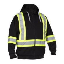 Hoodie Hi Vis Safety Zip Sweatshirt orange
