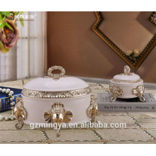 luxury high-end jewelry storage box polyresin material animal gift box for collection table candles