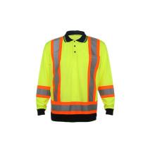 T-shirt de polo respirant fluorescent de fluorescence