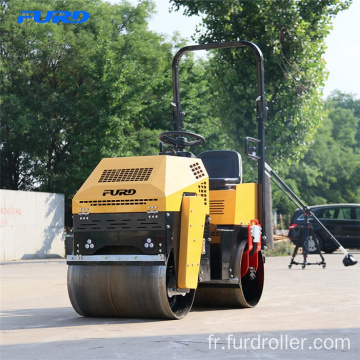 Ride on Mini Vibratory Compactor Road Roller Fyl-880