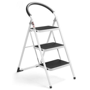 2 3 4 aço inoxidável dobrável escada de degraus