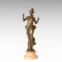 Classical Figure Statue Roman Lady Bronze Sculpture TPE-262