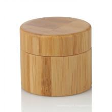 Pot de bambou de soin personnel de 15/20/25/30/50 / 100ml avec le couvercle en bambou en gros